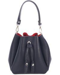 Giorgio Costa Leather Bucket Bag - Blue