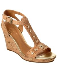 Jack Rogers - Willa Leather & Cork Wedge Sandal - Lyst
