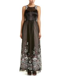 Karen Millen Floral Lace Maxi Dress - Black