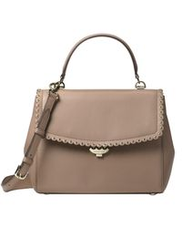37ea1c95589264 Michael Michael Kors Ava Small Saffiano Leather Satchel in Pink - Lyst
