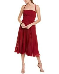 Fame & Partners Fame And Partners The Berkeley Midi Dress - Red