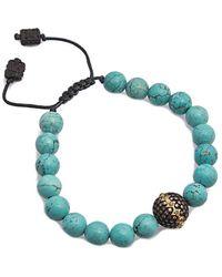 Armenta - Old World 18k & Silver 18.85 Ct. Tw. Blue Diamond & Magnesite Adjustable Bracelet - Lyst