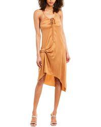 Haute Hippie Edith Silk-blend Slip Dress - Brown