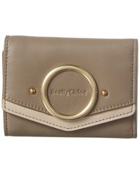 See By Chloé Leather Continental Wallet - Brown