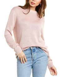 Theory Solid Linen-blend Jumper - Pink