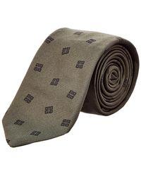 Givenchy - Dark Green Logo Silk Tie - Lyst