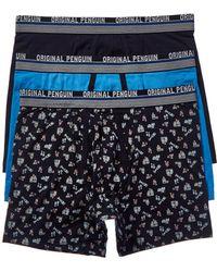 Original Penguin 3pk Boxer Brief - Blue