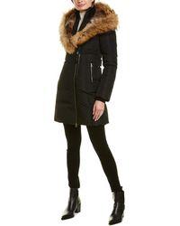 Mackage Trish F Leather-trim Down Coat - Black