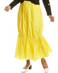 Chinti & Parker Drawstring Maxi Skirt - Yellow