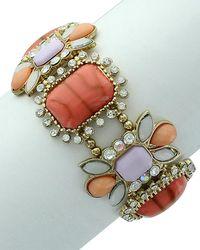 Sparkling Sage - Plated Resin Stretch Bracelet - Lyst