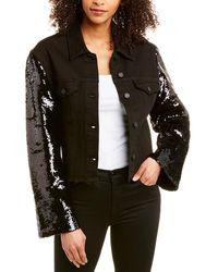 RTA Haylee Sequin Denim Jacket - Black