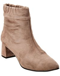 French Sole Clara Suede Bootie - Gray