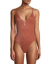 Tori Praver Swimwear Tori Praver Swim One-piece Mattie Swimsuit - Brown