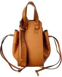 Loewe Hammock Drawstring Small Leather Shoulder Bag - Brown