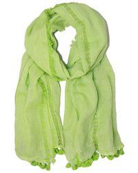 Saachi - Lime Stripe & Tassel Scarf - Lyst