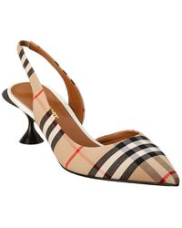 Burberry Vintage Check Slingback Pump - Brown