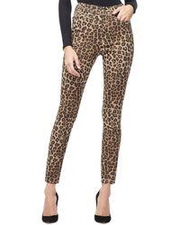 GOOD AMERICAN Good Waist Leopard Skinny Leg Jean - Multicolor