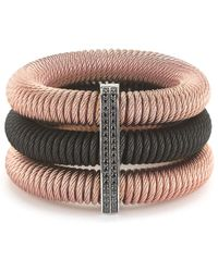 Alor - Noir 18k & Stainless Steel 0.35 Ct. Tw. Black Diamond Cable Bracelet - Lyst