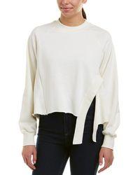 EVIDNT Raw Edge Sweatshirt - White