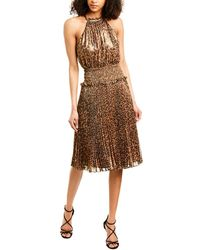 BCBGMAXAZRIA Eve Midi Dress - Brown