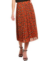 Tahari Tahari Asl A-line Skirt - Orange