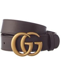 7beae6cc22c Lyst - Gucci Double G Buckle Leather Belt for Men