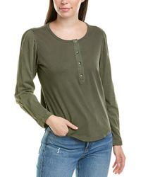 Splendid Henley Knit Top - Green