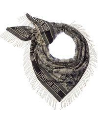 Dior - Printed Cashmere & Wool-blend Scarf - Lyst