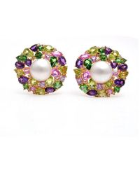 Arthur Marder Fine Jewelry - Gold Vermeil Mabe Pearl Earrings - Lyst