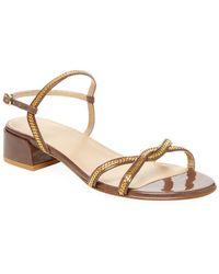 Stuart Weitzman - Ankle-strap Block Heel Sandal - Lyst