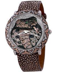 Le Vian Leather Diamond Watch - Multicolour