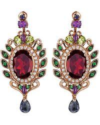 Le Vian 14k Rose Gold 12.24 Ct. Tw. Gemstone Drop Earrings - Red