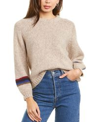 Velvet By Graham & Spencer Addie Wool & Alpaca-blend Jumper - Natural