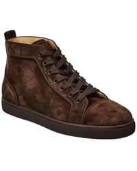 Christian Louboutin Louis Orlato Suede Trainer - Brown