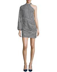 Lea & Viola Stripe Choker Dress - Black