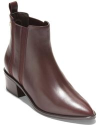 Cole Haan Valorie Leather Bootie - Brown