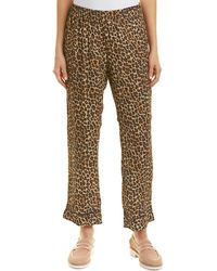 Three Dots Printed Pajama Pant - Brown