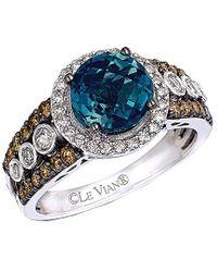 Le Vian ? 14k 2.67 Ct. Tw. Diamond & London Blue Topaz Ring