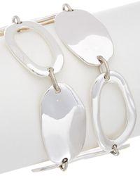 Robert Lee Morris - Golden Abalone Plated Cz Hammered Bracelet - Lyst