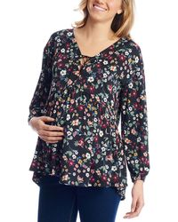 Everly Grey - Maternity Victoria Top - Lyst
