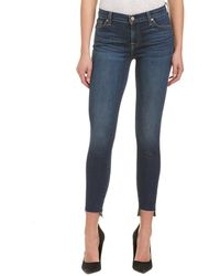 7 For All Mankind - 7 For All Mankind Gwenevere Royal Drottningholm Ankle Cut - Lyst