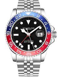 Stuhrling Original Men's Aquadiver Watch - Multicolour