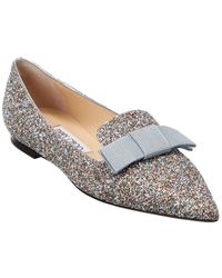 Jimmy Choo Gala Glitter Loafer - Metallic