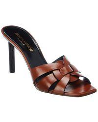Saint Laurent Tribute 85 Leather Sandal - Multicolor