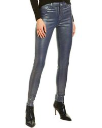 J Brand Maria Indigo Shimmer High-rise Skinny Leg Jean - Blue