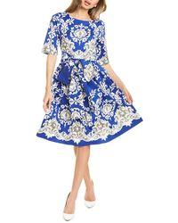 Samantha Sung Isabella A-line Dress - Blue