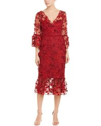 Marchesa notte Sheath Dress - Red