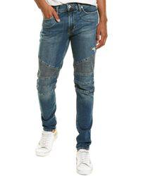 Hudson Jeans Ethan Biker Kuban Skinny Leg Jean - Blue