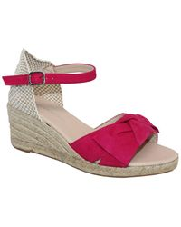 Eric Michael Gwenith Leather Wedge Sandal - Multicolour