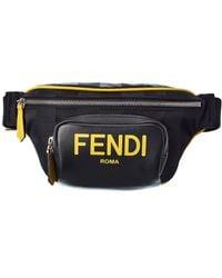 Fendi Roma Nylon & Leather Belt Bag - Multicolour